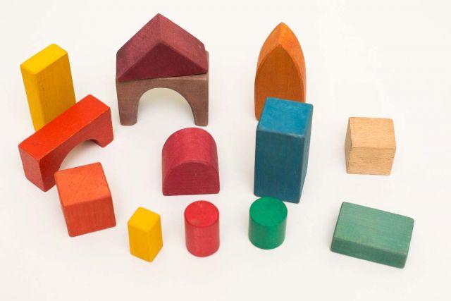 Farbige Holzklötze